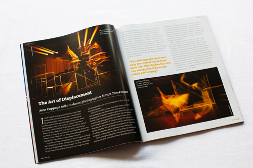 Simon Tomkinson Photography tear sheets Art of displacement  ISTD dance magazine parkour photography